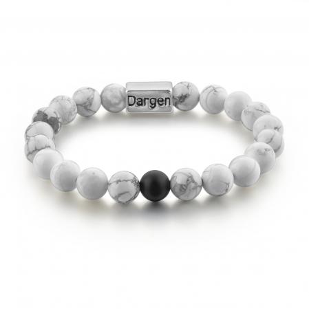 Set Bratari Perfect Balance+Colier White Howlite cu pietre semipretioase DRGSB032 - DarGEN3