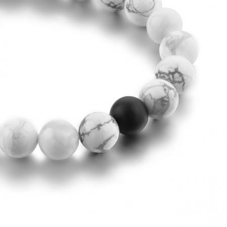 Set Bratari Perfect Balance+Colier White Howlite cu pietre semipretioase DRGSB032 - DarGEN13