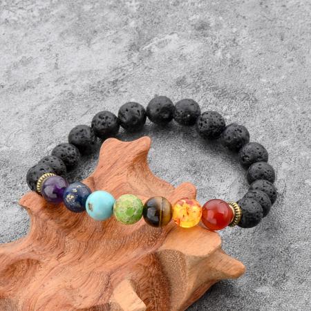 Set 2 Bratari Hematite Pearl+ Chakra din pietre semipretioase DarGen5