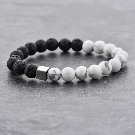 Bratara Black and White din pietre semipretioase DRGB0068 DarGen6