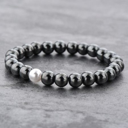 Set 2 Bratari Hematite Pearl+ Chakra din pietre semipretioase DarGen9
