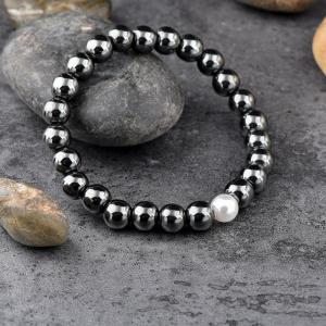 Bratara Hematite Beads Pearl din pietre semipretioase DRGB0069 DarGen [8]