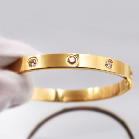 Bratara Adonia Rose Gold din otel inoxidabil si diamante CZ DRGB0150 DarGen4
