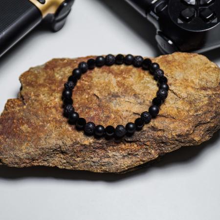 Bratara Black Onyx din pietre semipretioase 6 mm DRGB0062 DarGen5