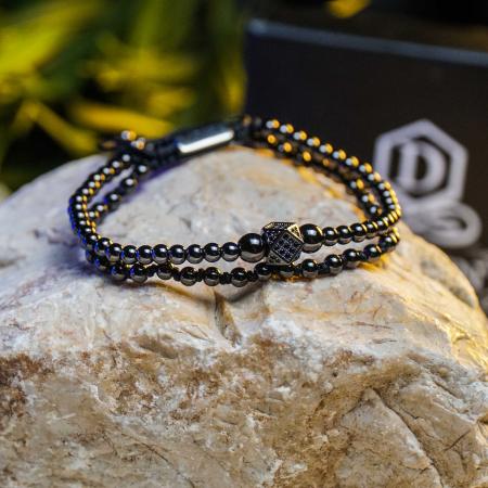 Bratara Daphis Black din pietre semipretioase DRGB0121 DarGen [5]