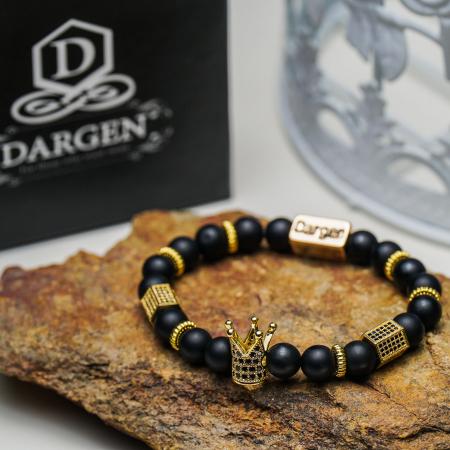 Bratara Elenor din pietre semipretioase placate cu aur DRGB0090 DarGen8