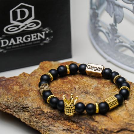 Bratara Elenor din pietre semipretioase placate cu aur DRGB0090 DarGen6