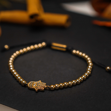 Bratara Fatima Gold placata cu aur DRGB0135 DarGen [6]