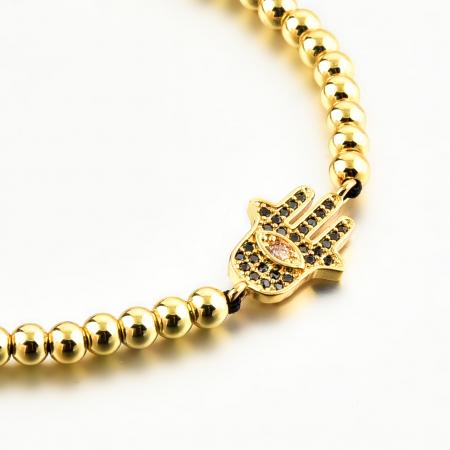 Bratara Fatima Gold din pietre semipretioase DRGB0135 DarGen3