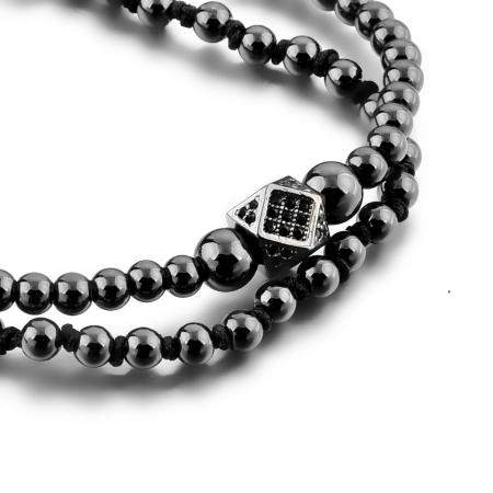 Bratara Daphis Black din pietre semipretioase DRGB0121 DarGen9