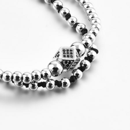 Bratara Daphis Silver din pietre semipretioase DRGB0122 DarGen3