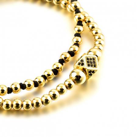 Bratara Daphis Gold din pietre semipretioase DRGB0123 DarGen3