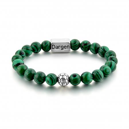 Set Bratara Rolan+Colier Green Agate cu pietre semipretioase  DRGSB030 - DarGEN2