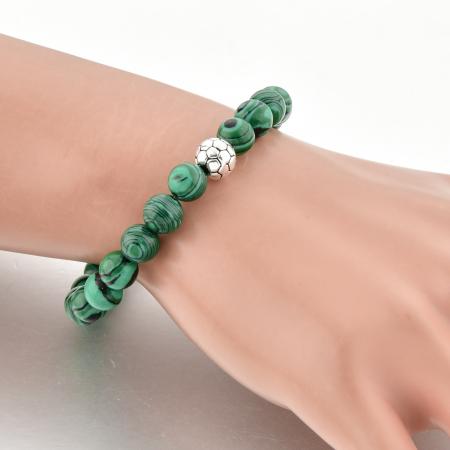 Set Bratara Rolan+Colier Green Agate cu pietre semipretioase  DRGSB030 - DarGEN4