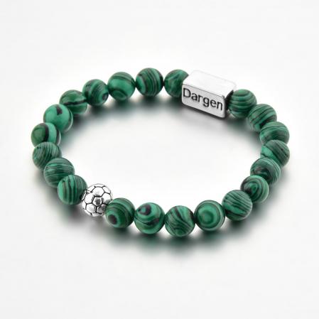 Set Bratara Rolan+Colier Green Agate cu pietre semipretioase  DRGSB030 - DarGEN6