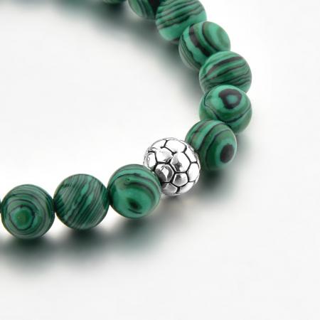 Set Bratara Rolan+Colier Green Agate cu pietre semipretioase  DRGSB030 - DarGEN8