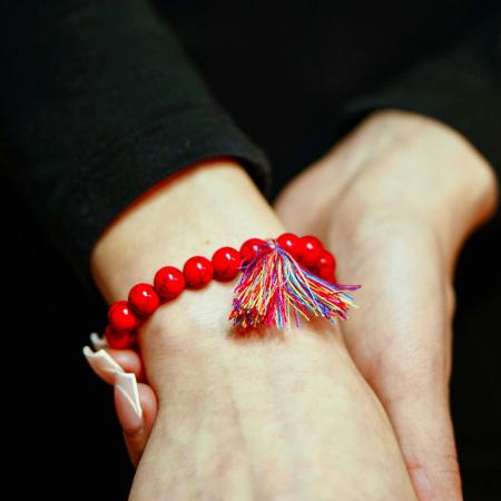 Bratara Shao Red din pietre semipretioase DRGB0106 DarGen [2]