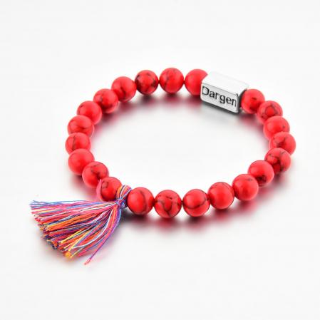 Bratara Shao Red din pietre semipretioase DRGB0106 DarGen2