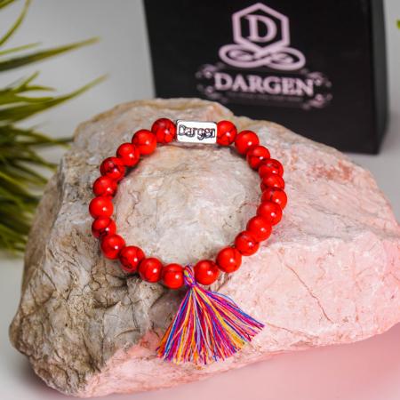Bratara Shao Red din pietre semipretioase DRGB0106 DarGen [6]