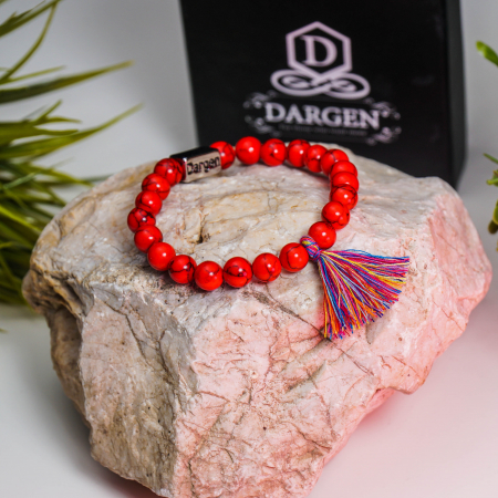 Bratara Shao Red din pietre semipretioase DRGB0106 DarGen [5]
