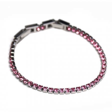 Bratara Tennis Alpine Pink din otel inoxidabil si diamante CZ DRGB0078 DarGen4