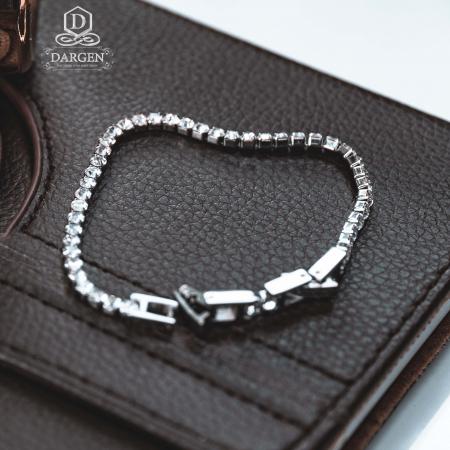 Bratara Tennis Alpine Silver din otel inoxidabil si diamante CZ DRGB0035 DarGen [5]