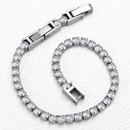 Bratara Tennis Alpine Silver din otel inoxidabil si diamante CZ DRGB0035 DarGen4
