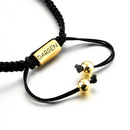 Bratara Ivon din snur si accesoriu din otel inoxidabil placat cu aur DRGB0099 DarGen [8]