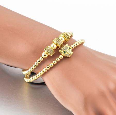 Bratari Selma Gold placata cu aur din pietre semipretioase DRGB0162 DarGen [3]