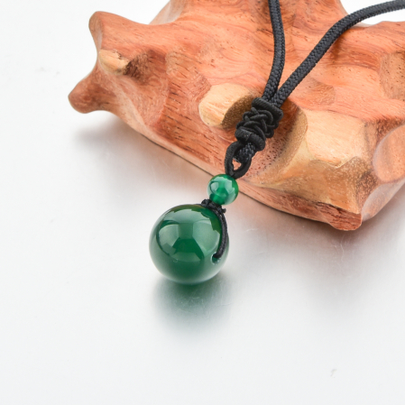 Set Bratara Rolan+Colier Green Agate cu pietre semipretioase  DRGSB030 - DarGEN5
