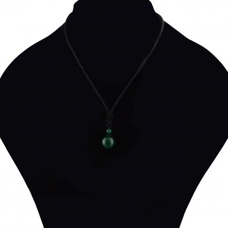 Set Bratara Rolan+Colier Green Agate cu pietre semipretioase  DRGSB030 - DarGEN7