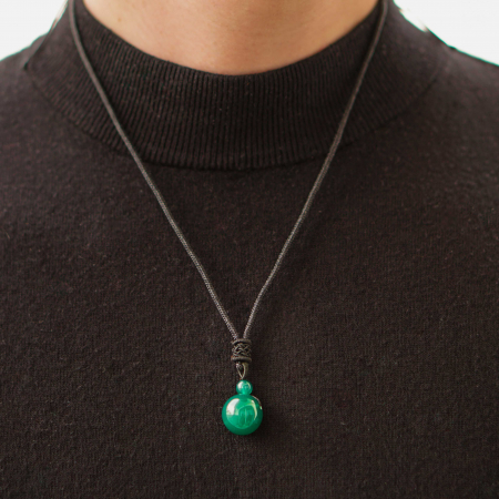Colier Green Agate din pietre semipretioase DRGL0043 DarGen [2]