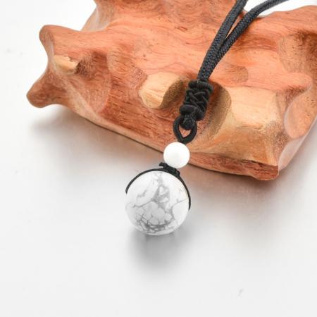 Colier White Howlite din pietre semipretioase DRGL0044 DarGen2