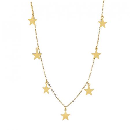 Colier Larnia Gold din otel inoxidabil DRGL0034 DarGen0
