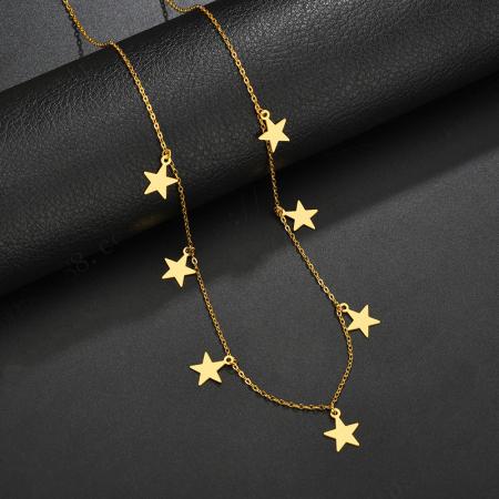 Colier Larnia Gold din otel inoxidabil DRGL0034 DarGen2