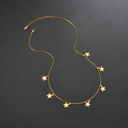 Colier Larnia Gold din otel inoxidabil DRGL0034 DarGen3