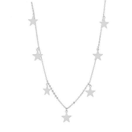 Colier Larnia Silver din otel inoxidabil DRGL0035 DarGen0