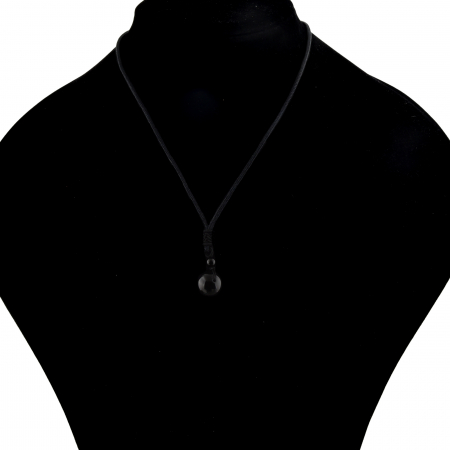 Set Bratara All Black+Colier Obsidian cu pietre semipretioase DRGSB033 - DarGEN8