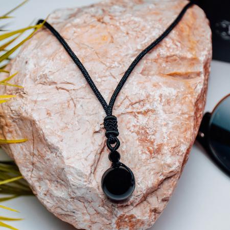 Colier Obsidian din pietre semipretioase DRGL0042 DarGen [6]