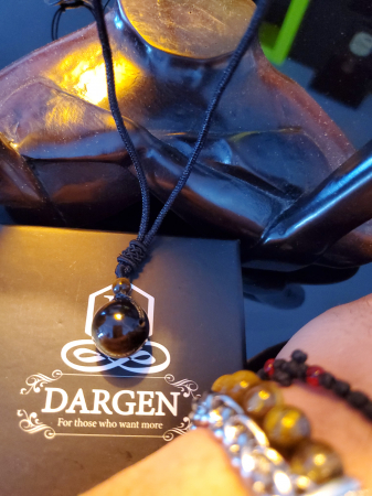 Colier Tiger Eye din pietre semipretioase DRGL0001 DarGen7