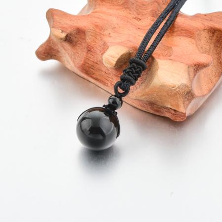 Colier Obsidian din pietre semipretioase DRGL0042 DarGen2