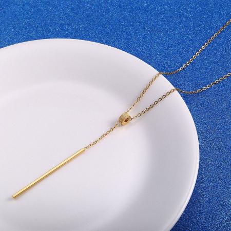 Lantisor cu Pandantiv Casidy Gold din otel inoxidabil DRGL0038 DarGen2