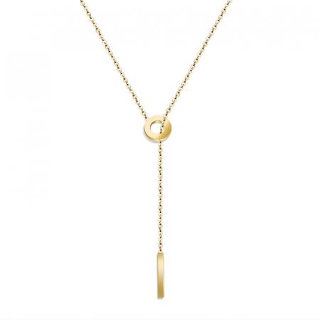 Lantisor cu Pandantiv Davina Gold din otel inoxidabil placat cu aur DRGL0041 DarGen0