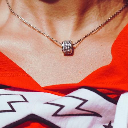 Lantisor cu Pandantiv French din otel inoxidabil si diamante CZ DRGL0029 DarGen5