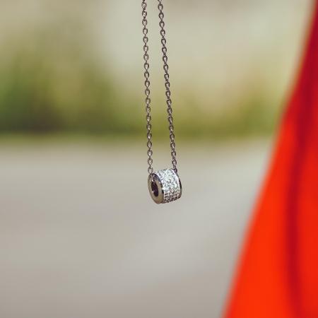 Lantisor cu Pandantiv French din otel inoxidabil si diamante CZ DRGL0029 DarGen2