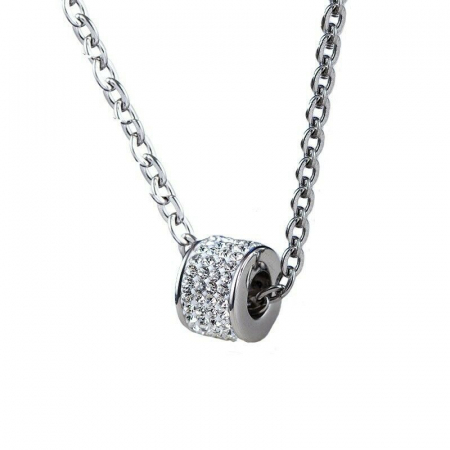 Lantisor cu Pandantiv French din otel inoxidabil si diamante CZ DRGL0029 DarGen0