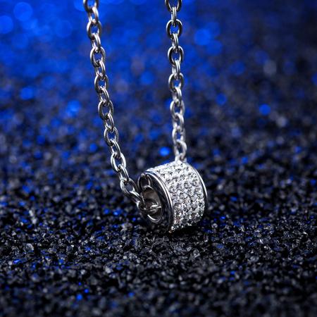Lantisor cu Pandantiv French din otel inoxidabil si diamante CZ DRGL0029 DarGen10