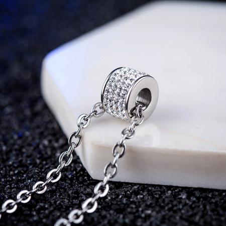 Lantisor cu Pandantiv French din otel inoxidabil si diamante CZ DRGL0029 DarGen11
