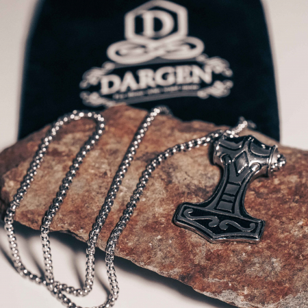 Lantisor cu Pandantiv Ragnar din otel inoxidabil DRGL0011 DarGen [5]