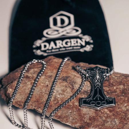 Lantisor cu Pandantiv Ragnar din otel inoxidabil DRGL0011 DarGen [6]